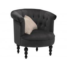 Elegancki szary fotel butter na toczonych nogach
