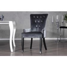 Eleganckie krzesło glamour z podłokietnikiem