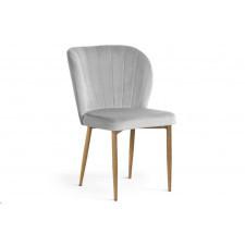 Eleganckie tapicerowane krzesło massimo z przeszyciami na oparciu