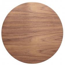 Fornirowany stolik kawowy z okrągłym blatem pawi round small