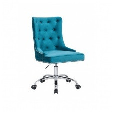 Fotel biurowy victory glamour turkusowy