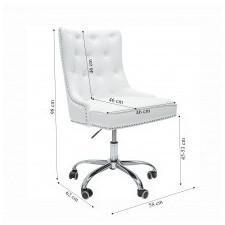 Fotel biurowy victory ii glamour biały