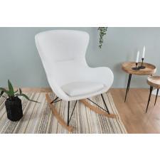 Fotel bujany jorn skandynawski biały