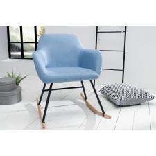 Fotel bujany michelle nowoczesny jasnoniebieski