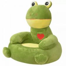 Fotel dla dzieci żaba, pluszowy, zielony