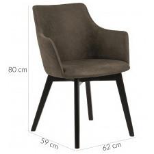 Fotel do salonu bella oliwkowy welurowy