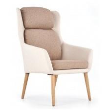 Fotel do salonu purio beżowy/brązowy