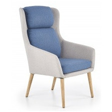 Fotel do salonu purio jasny popiel/niebieski
