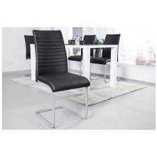 Fotel do salonu sulmo ekoskóra czarny/chrom