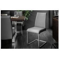 Fotel do salonu sulmo ekoskóra szary/chrom