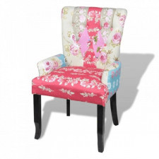 Fotel francuski patchworkowy
