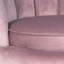 Fotel muszelka do salonu muse ii różowy welur