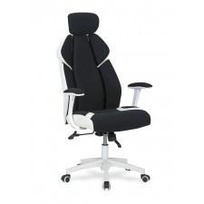 Fotel obrotowy chrono czarny/biały