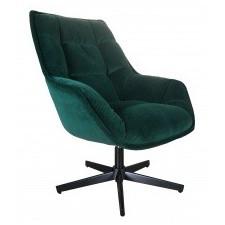Fotel obrotowy convi zielony welur czarne nóżki pikowany