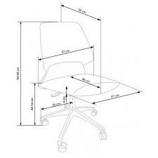 Fotel obrotowy do biura gravity 84-94 cm niebieski regulowany