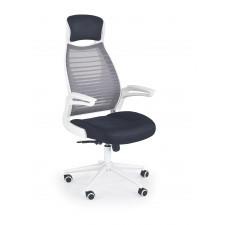 Fotel obrotowy franklin czarny popielaty biały