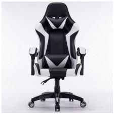 Fotel obrotowy gamingowy carbon 115 cm biały