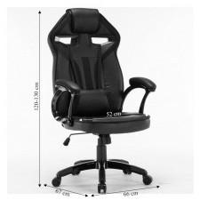 Fotel obrotowy gamingowy infini 120 cm niebieski