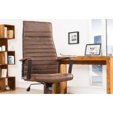 Fotel obrotowy latio brązowy vintage