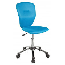 Fotel obrotowy lorita niebieski regulowany