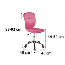 Fotel obrotowy lorita różowy regulowany