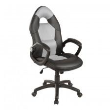 Fotel obrotowy porato czarny/ szary ekoskóra
