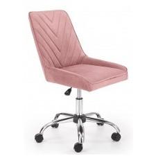 Fotel obrotowy rico różowy welur