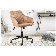 Fotel obrotowy turin brązowy