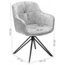 Fotel obrotowy z podłokietnikami euphoria beżowy welur