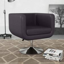 Fotel obrotowy, brązowy, sztuczna skóra