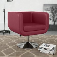 Fotel obrotowy, czerwone wino, sztuczna skóra
