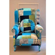 Fotel Patchwork Blue Juicy Colors