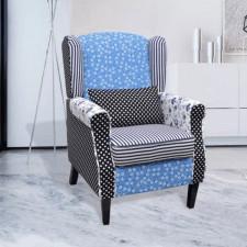Fotel patchworkowy, tkanina