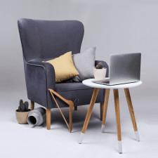 Fotel sali i szary