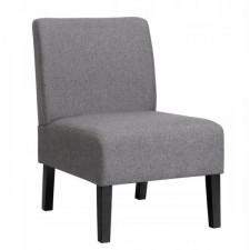 Fotel tapicerowany do salonu szary