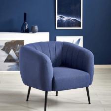 Fotel tapicerowany lupio niebieski glamour