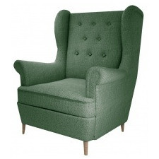Fotel uszak aros zielony