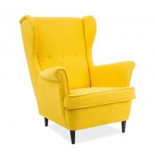 Fotel uszak berry żółty