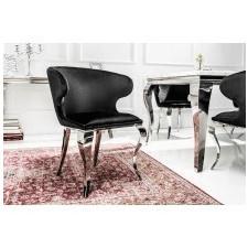 Fotel welurowy modern barock czarny glamour