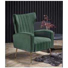 Fotel welurowy vario zielony/złoty