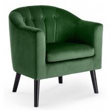 Fotel wypoczynkowy marshal welurowy zielony