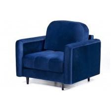 Fotel wypoczynkowy obvious granatowy welurowy