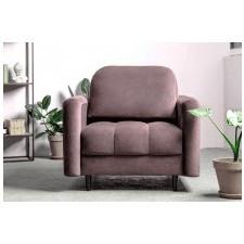 Fotel wypoczynkowy obvious różowy welurowy