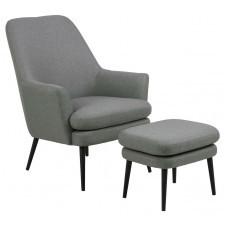 Fotel wypoczynkowy z podłokietnikami i podnóżkiem chisa high
