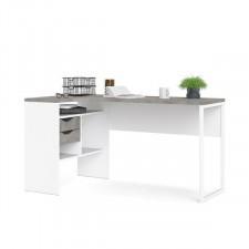 Function 118 biurko narożne biały/beton