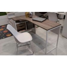 Function 118 biurko narożne biały/dąb trufla