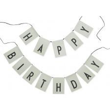 Girlanda happy birthday zielona