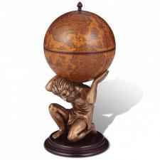 Globobar ze wspornikiem w formie atlasa, 42 x 42 x 85 cm,