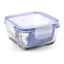 Hermetyczne pudełko na lunch borgonovo przezroczysty kwadratowy