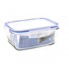 Hermetyczne pudełko na lunch borgonovo przezroczysty prostokątny